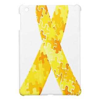 Cinta amarilla del modelo del rompecabezas