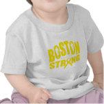 Cinta amarilla fuerte de Boston Camisetas