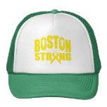 Cinta amarilla fuerte de Boston Gorro