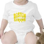 Cinta amarilla fuerte de Boston Trajes De Bebé
