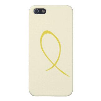 Cinta amarilla iPhone 5 carcasa