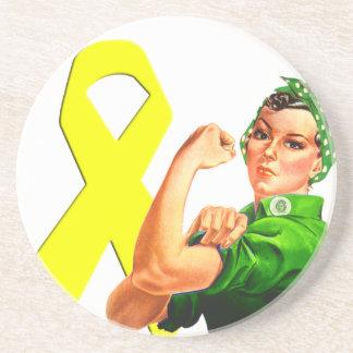 Cinta amarilla Rosie de la conciencia el Posavasos Manualidades