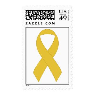 Cinta amarilla simple sellos