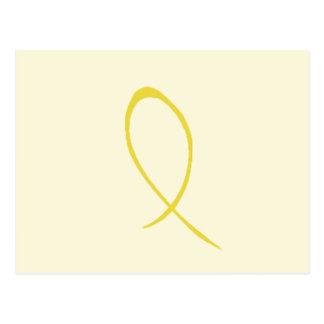 Cinta amarilla postales
