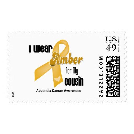 Cinta ambarina para mi primo - cáncer del apéndice sello