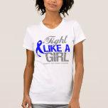 Cinta anal del cáncer - lucha como un chica camiseta