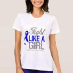 Cinta anal del cáncer - lucha como un chica camisetas