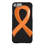 Cinta anaranjada 3 de la leucemia funda de iPhone 6 barely there