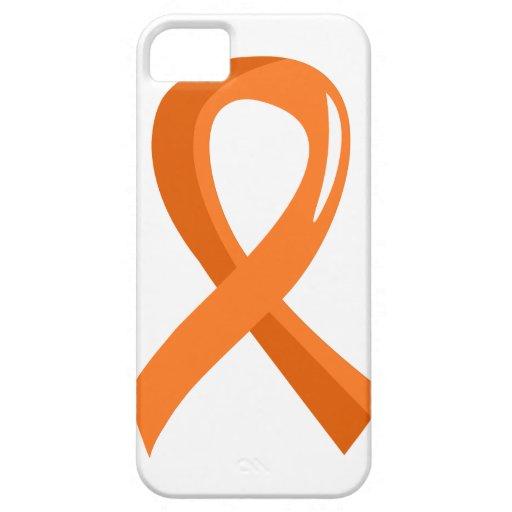 Cinta anaranjada 3 de la leucemia iPhone 5 Case-Mate carcasa