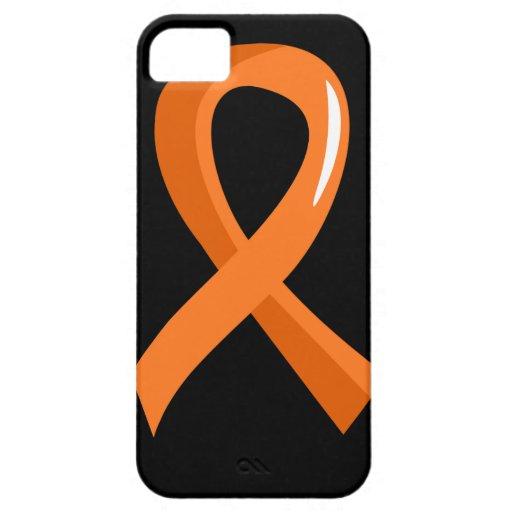 Cinta anaranjada 3 de la leucemia funda para iPhone SE/5/5s