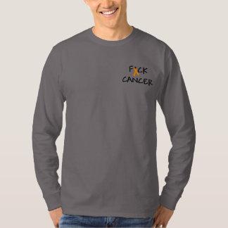 Cinta anaranjada de la conciencia del cáncer de playera