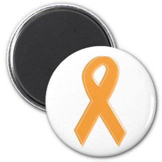Cinta anaranjada de la conciencia imán redondo 5 cm