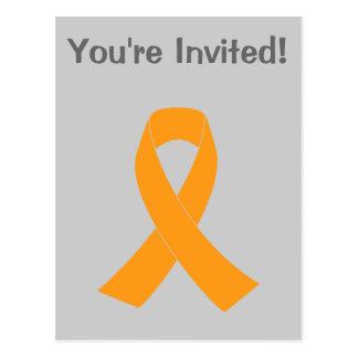Cinta anaranjada de la conciencia - leucemia, ms postales