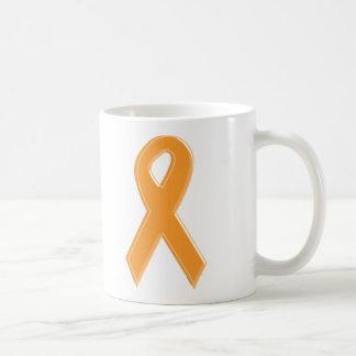Cinta anaranjada de la conciencia tazas de café