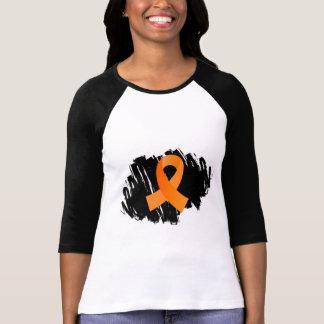 Cinta anaranjada de la esclerosis múltiple con polera
