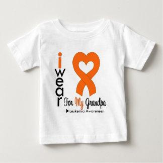 Cinta anaranjada del corazón del desgaste de la tee shirt