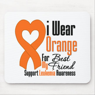 Cinta anaranjada del desgaste de la leucemia I par Alfombrilla De Ratón