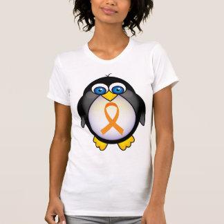 Cinta anaranjada del pingüino del regalo de la camisetas
