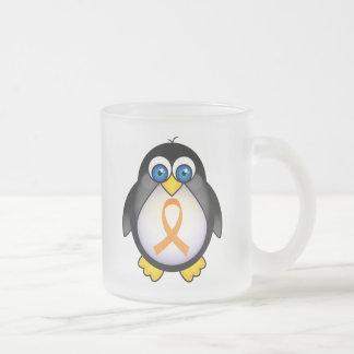 Cinta anaranjada del pingüino del regalo de la taza de café