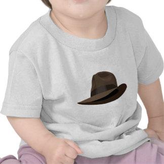 Cinta ancha de Brown Fedora Camiseta