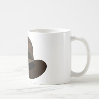 Cinta ancha de Brown Fedora Tazas De Café