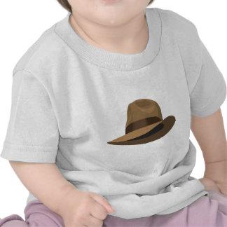 Cinta ancha de Fedora del moreno Camiseta