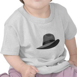Cinta ancha gris de Fedora Camiseta