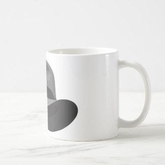 Cinta ancha gris de Fedora Taza