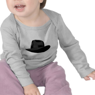 Cinta ancha negra de Fedora Camisetas