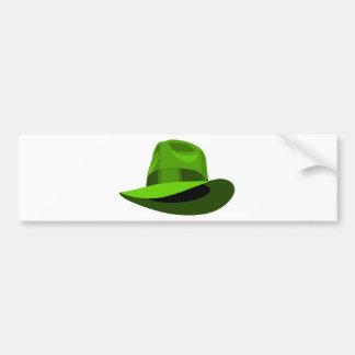 Cinta ancha verde de Fedora Pegatina Para Auto