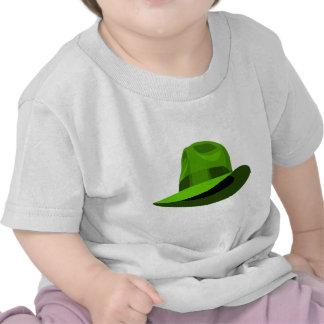 Cinta ancha verde de Fedora Camisetas