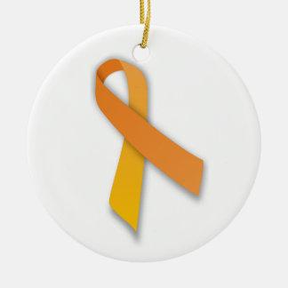 Cinta animal anaranjada de la conciencia del guard ornamento para arbol de navidad