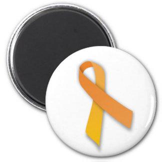 Cinta animal anaranjada de la conciencia del guard imán redondo 5 cm