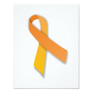 Cinta animal anaranjada de la conciencia del invitación 10,8 x 13,9 cm