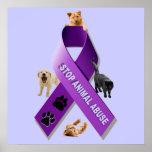 Cinta animal de la conciencia del abuso (abuso ani impresiones