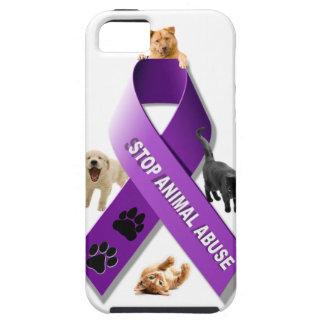 Cinta animal de la conciencia del abuso iPhone 5 carcasas