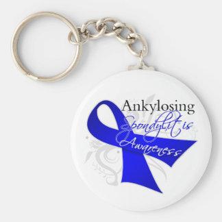 Cinta Ankylosing de la conciencia de Spondylitis Llavero Redondo Tipo Pin