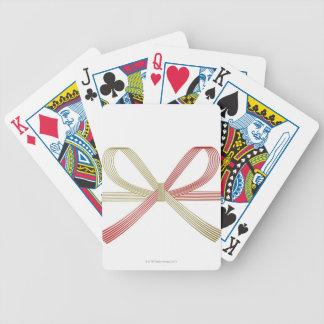 Cinta atada baraja cartas de poker