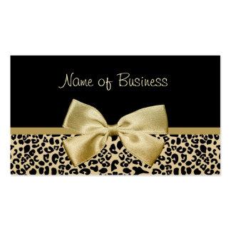 Cinta atractiva del oro del estampado leopardo del plantilla de tarjeta de visita