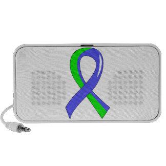 Cinta azul 3 de la verde lima del EDS iPhone Altavoces
