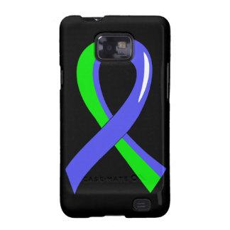 Cinta azul 3 de la verde lima del EDS Samsung Galaxy SII Carcasa