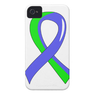 Cinta azul 3 de la verde lima del EDS iPhone 4 Case-Mate Fundas