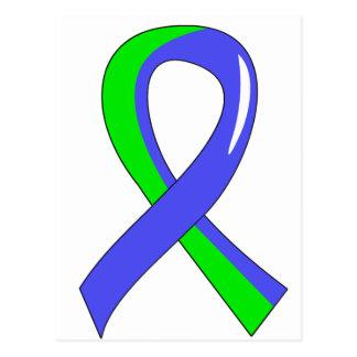 Cinta azul 3 de la verde lima del EDS Tarjeta Postal