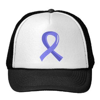 Cinta azul clara 3 del cáncer de próstata gorras de camionero