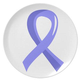 Cinta azul clara 3 del cáncer de próstata plato