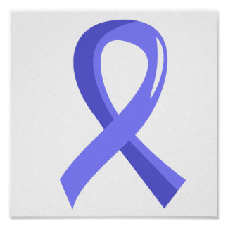 Cinta azul clara 3 del cáncer de próstata póster