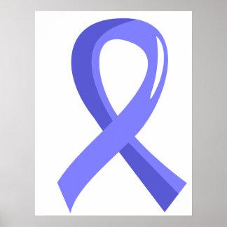 Cinta azul clara 3 del escleroderma posters