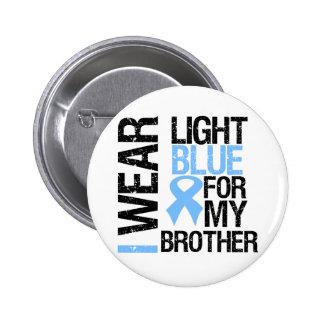 Cinta azul clara Brother del cáncer de próstata Pin Redondo De 2 Pulgadas