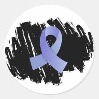 Cinta azul clara del cáncer de próstata con pegatina redonda