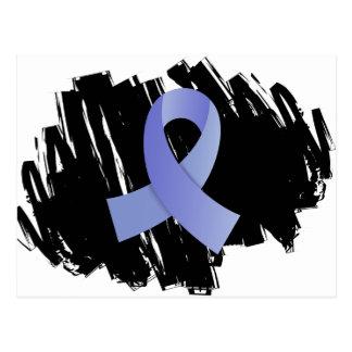 Cinta azul clara del cáncer de próstata con tarjetas postales